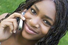 青少年的电话 免版税图库摄影