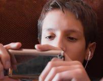 青少年的男孩 图库摄影