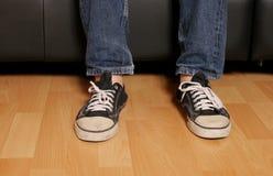 青少年的英尺 免版税库存照片