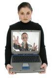 青少年的靠机械装置维持生命的人 库存图片