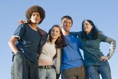 青少年种族的朋友 免版税库存图片