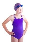 青少年竞争的游泳者 免版税库存图片