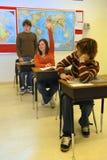 青少年答复的学员 免版税库存图片