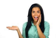 青少年美丽的兴奋的拉提纳 免版税库存照片