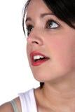 青少年美丽的华美的极大的headshot的滑雪 免版税库存图片