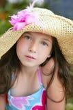 青少年美丽的特写镜头女孩的纵向 库存图片