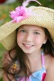 青少年美丽的特写镜头女孩的纵向 图库摄影