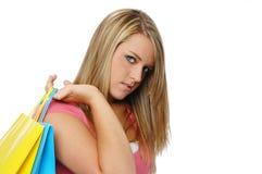 青少年美好的女孩的购物 图库摄影