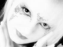 青少年美好的德国的goth 免版税库存图片