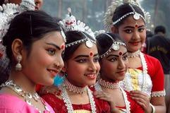 青少年舞蹈演员印地安人 免版税库存图片