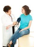 青少年血液医疗的压 免版税库存图片