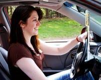 青少年驱动器的女性 库存照片