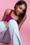 青少年黑人的女孩 免版税库存图片