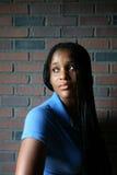 青少年黑色轻的自然的纵向 免版税图库摄影