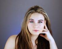 青少年1美好的女孩的headshot 库存图片