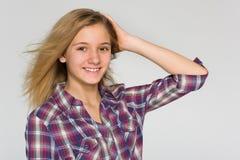 青少年可爱的女孩 免版税库存照片
