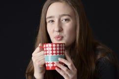 太热的咖啡杯 库存图片