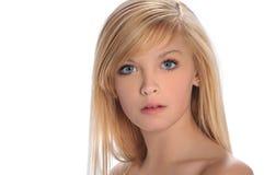 青少年女孩的纵向s 库存照片