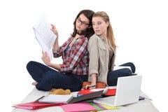 青少年学习 免版税库存图片