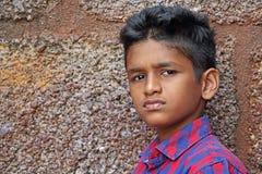 青少年恼怒的男孩 免版税库存照片
