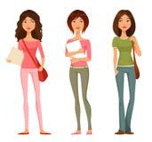青少年或非离子活性剂学生女孩 皇族释放例证