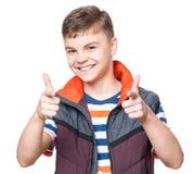 青少年男孩的纵向 库存图片