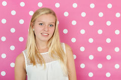 青少年白肤金发的女孩 库存照片