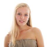 青少年白肤金发的女孩 免版税库存照片