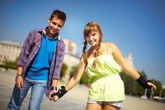 青少年的城市夏天 免版税图库摄影