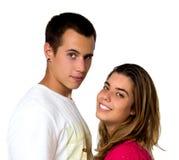 青少年的夫妇 免版税库存照片