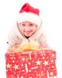 青少年的女孩与一个新年 免版税库存照片