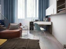 青少年的室现代风格 免版税库存照片