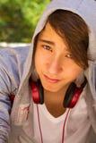 青少年的男孩外部画象  库存照片