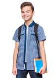 青少年的男孩学员 免版税库存照片