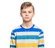 青少年的男孩情感画象  库存照片