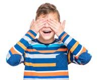 青少年的男孩情感画象  图库摄影
