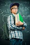 青少年的男小学生 免版税图库摄影
