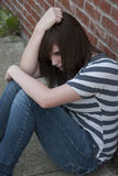 青少年的精神健康 库存照片