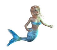 青少年的美人鱼 免版税库存照片