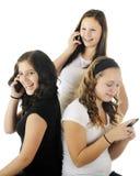 青少年的谈话 免版税库存照片