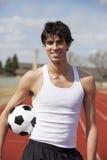 青少年的足球 库存照片