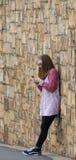 青少年的FB墙壁 免版税图库摄影