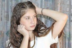 青少年美丽的女孩 库存图片