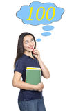 青少年认为 免版税库存照片