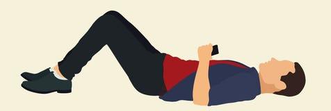 青少年躺下 库存照片