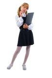 青少年逗人喜爱的女小学生 库存照片