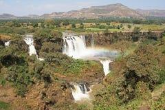 青尼罗河秋天,巴赫达尔,埃塞俄比亚 图库摄影