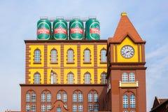 青岛啤酒厂的主楼 免版税库存图片