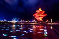 青岛,中国, 06-08-2016 5月4日广场( 吴思Guangchang) 图库摄影