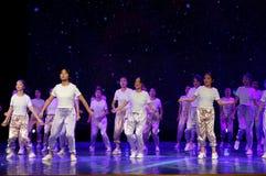青年区域4 -熟悉内情的蛇麻草舞蹈 免版税库存图片
